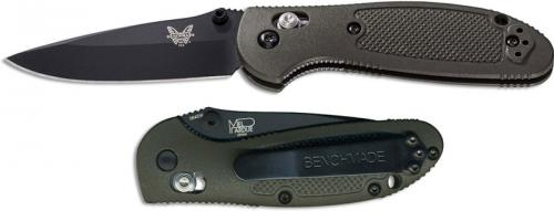 Benchmade Mini Griptilian 556BKOD Knife Mel Pardue EDC Black Drop Point OD GFN