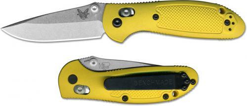 Benchmade 556-YEL Mini Griptilian S30V EDC Drop Point Yellow GFN AXIS Lock Folder USA Made