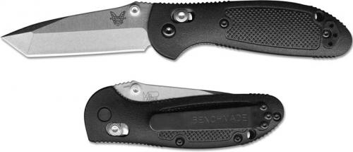 Benchmade 557 Mini Griptilian S30V EDC Satin Tanto Black GFN AXIS Lock Folder USA Made