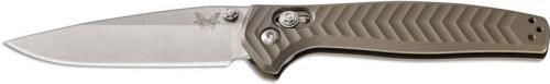 Benchmade Anthem 781 Knife 1 Piece Bronze Billet Titanium EDC Drop Point AXIS Lock Folder