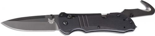 Benchmade 917BK Tactical Triage Knife Black Drop Point, Seatbelt Cutter and Glassbreaker