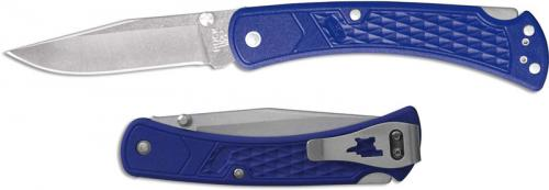 Buck 110 Slim Select EDC 0110BLS2 Clip Point Blade Blue GFN Lock Back Folder Made in USA