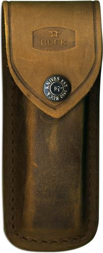 Buck 110 Folding Hunter Distressed Brown Leather Sheath Only, BU-110DBS