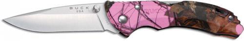 Buck Knives: Buck Bantam BBW Knife, Pink Camo, BU-284CMS10