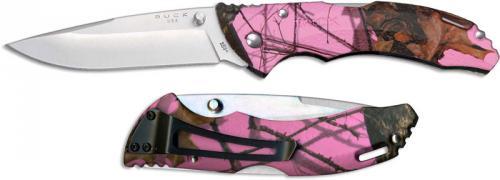 Buck Knives: Buck Bantam BLW Knife, Pink Camo, BU-285CMS10