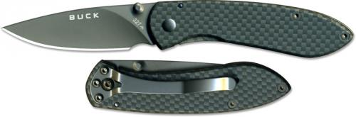 Buck Knives: Buck Nobleman Knife, Carbon Fiber Pattern, BU-327CFS