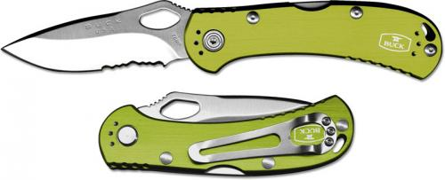 Buck SpitFire, Part Serrated Green, BU-722GRX1