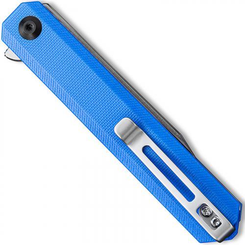 CIVIVI Chronic Knife C917B - Satin Clip Point - Blue G10 - Liner Lock Flipper Folder