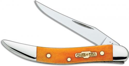 Case Small Texas Toothpick, Smooth Persimmon Orange Bone, CA-10311