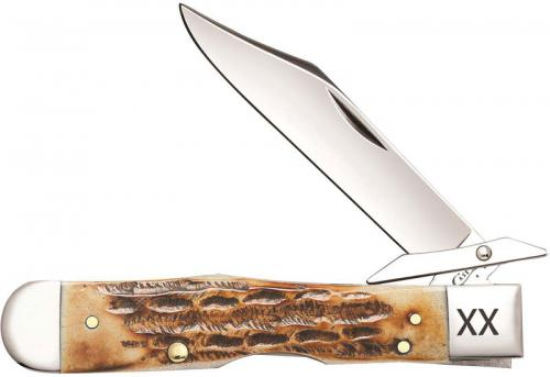 Case Cheetah Knife 10903 Deep Canyon Burnt Amber Bone 6111 1 / 2LSS