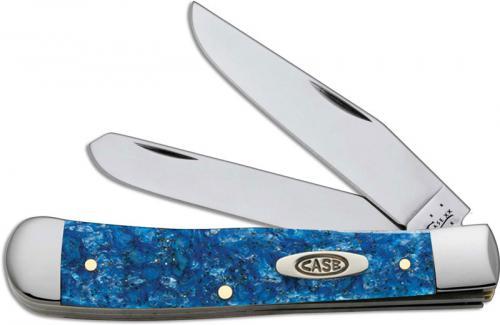 Case Trapper Knife, Blue Sparkle Kirinite, CA-13530