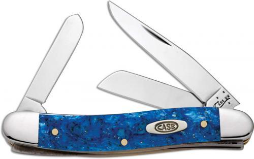 Case Medium Stockman Knife, Blue Sparkle Kirinite, CA-13532