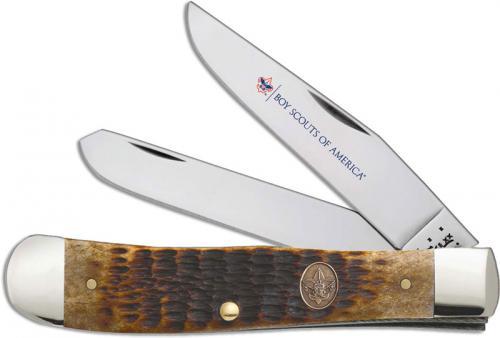 Case BSA Trapper Knife, Antique Bone, CA-18031