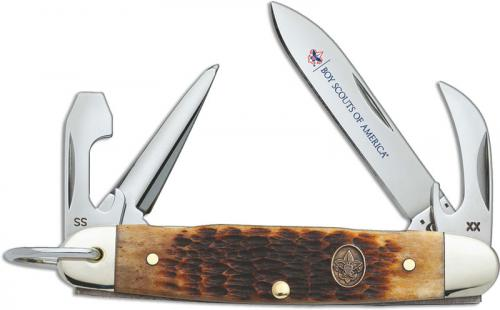Case BSA Jr Scout Knife, Antique Bone, CA-18032
