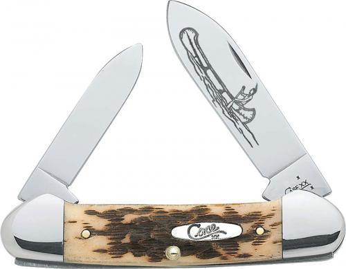 Case Canoe Knife, Amber Bone CV, CA-263
