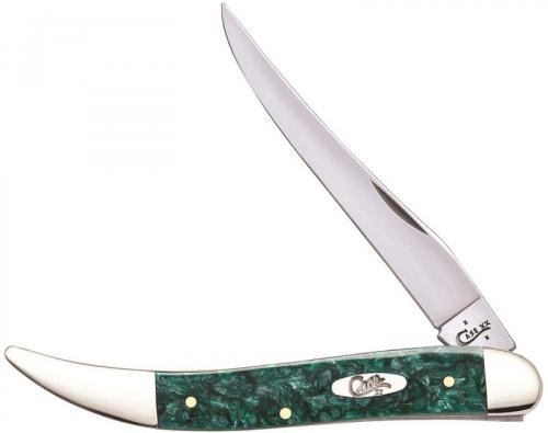 Case Medium Texas Toothpick Knife 32583 Green Sparkle