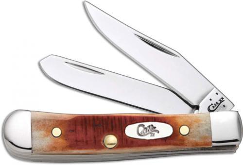 Case Tiny Trapper Knife, Sawcut Caramel Bone, CA-33984