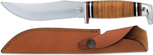 Case Hunting Knife, 5 Inch Skinner, Leather Handle, CA-384