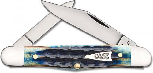 Case Half Whittler 49226 Knife Burnt Indigo Bone 6208SS