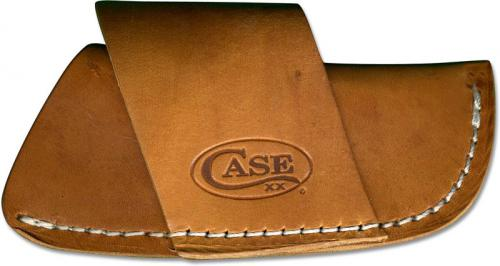 Case 50232 Horizontal Carry Leather Belt Sheath for Larger Case Folding Knives USA Made