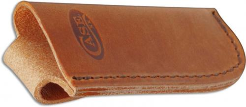 Case 50289 Open Top Leather Belt Sheath for Larger Case Folding Knives USA Made
