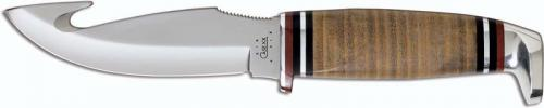 Case Knives: Case Hunting Knife, Gut Hook with Leather Handle, CA-517
