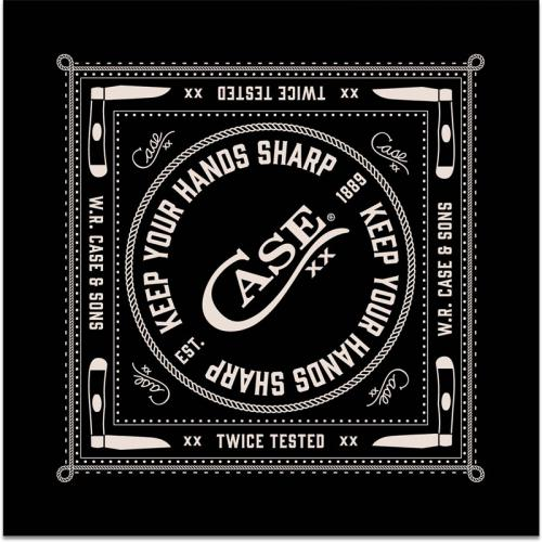 Case Bandana - Keep Your Hands Sharp - Black and White