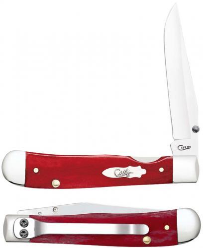 Case Kickstart TrapperLock Knife 60544 Smooth Dark Red Bone 6154ACSS