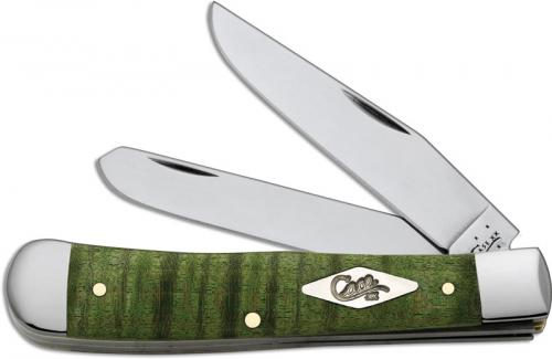 Case Trapper Knife, Green Curly Maple, CA-65562