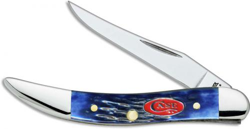 Case Knives: Case Navy Blue Bone Small Texas Toothpick Knife, CA-7054
