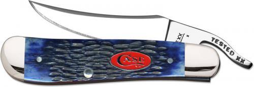 Case Knives: Case Navy Blue Bone RussLock Knife, CA-7057
