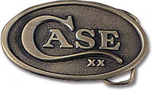 Case Knives: Case Oval Belt Buckle, Case XX Logo, CA-934