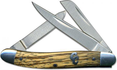 Cattleman Stockman Knife, Zebra Wood Handle, CC-1ZW