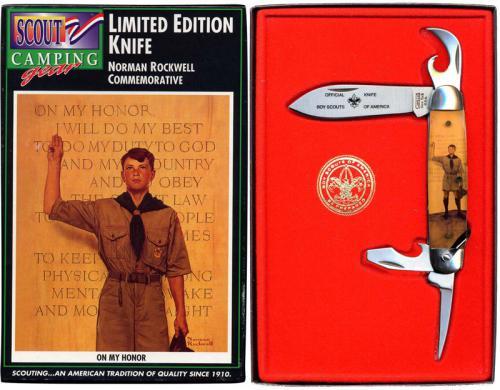 Camillus Bsa Norman Rockwell Commemorative Camp Knife
