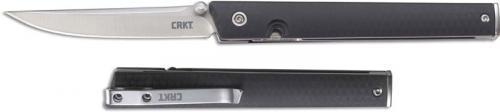CRKT CEO 7096 Knife Richard Rogers EDC Gent Satin Drop Point Folder Black GRN with IKBS Pivot