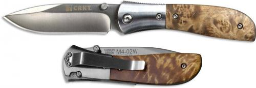 Columbia River Knife and Tool: CRKT Carson M4 Knife, Wood, CR-M402W