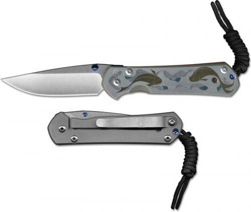 Chris Reeve Large Sebenza 21 L21-1250 - CPM S35VN Drop Point - Koi Pond - Titanium RIL Folder - USA Made