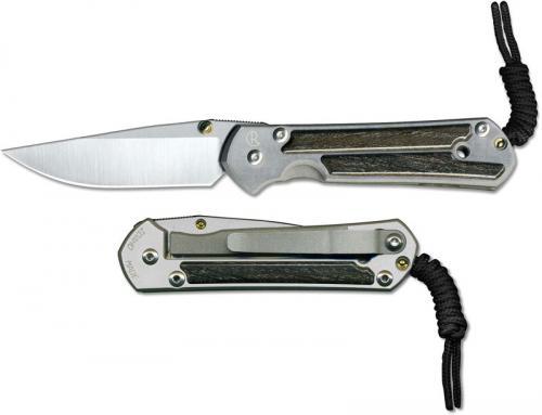 Chris Reeve Small Sebenza 21 S21-1082 - CPM S35VN Drop Point - Bog Oak Inlay - Titanium RIL Folder - USA Made