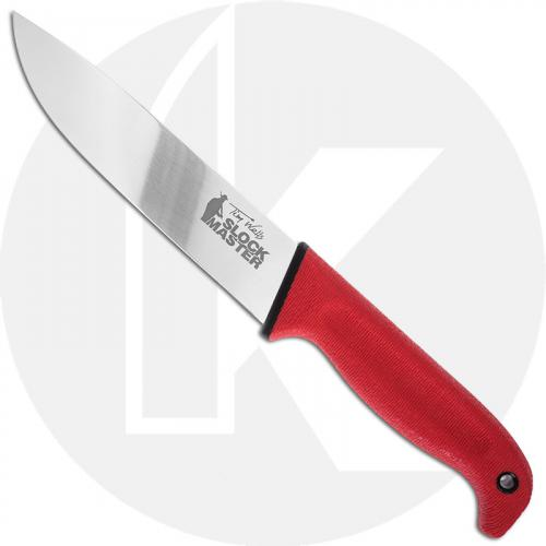 Cold Steel Scalper Slock Master 20VSTW - Drop Point Fixed Blade - Red Kray-Ex - Secure-Ex Sheath