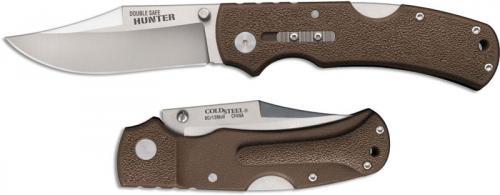 Cold Steel 23JA Double Safe Hunter Andrew Demko Clip Point Folding Hunter Brown GFN Handle