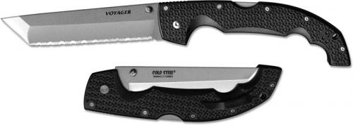 Cold Steel Voyager, Extra Large Tanto Serrated, CS-29TXCTS