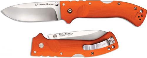 Cold Steel Ultimate Hunter 30ULHRY Andrew Demko Drop Point Orange G10 Locking Folder
