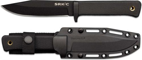 Cold Steel SRK Compact Knife 49LCKD - Value Priced - Black SK-5 Clip Point Fixed Blade - Kray Ex Handle