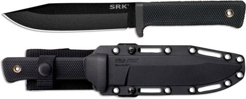 Cold Steel 49LCK SRK Black SK-5 Clip Point Fixed Blade Tactical Knife