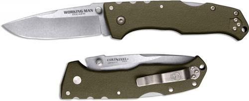 Cold Steel Working Man 54NVG Knife Steve Austin EDC OD Green GFN Locking Folder