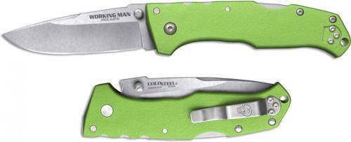 Cold Steel Working Man 54NVLM Knife Steve Austin EDC Neon Green GFN Locking Folder