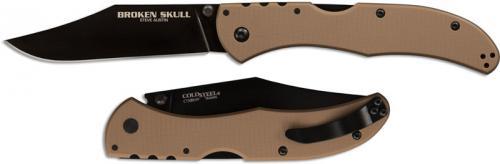 Cold Steel Broken Skull Knife, Coyote Tan, CS-54SBB