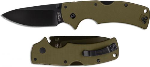Cold Steel 58ALVG American Lawman Knife Drop Point OD Green G10 Locking Folder