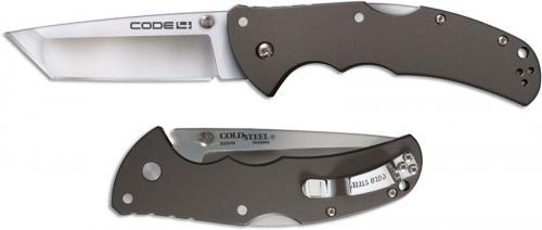 Cold Steel 58PT Code 4 Knife S35VN Tanto Gray Aluminum Tri-Ad Lock Folder