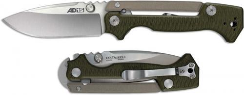 Cold Steel AD-15 58SQ Knife Andrew Demko S35VN Spear Point Green G10 Scorpion Lock Folder